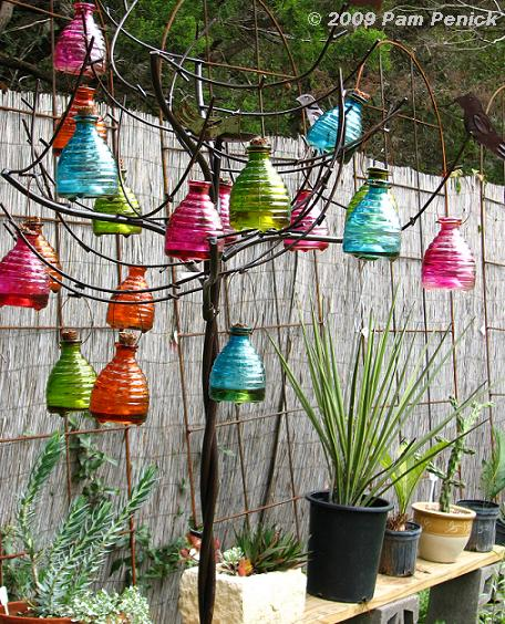 Iu0027ve Seen These Metal Trees Before At The Antique Rose Emporium In San  Antonio, But This One Was Transformed Into A Colorful Bottle Tree With The  Addition ...