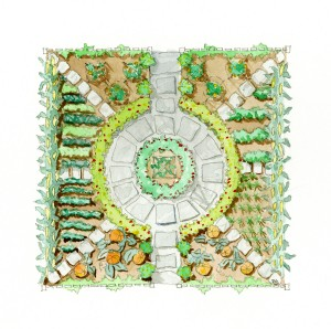 Read this the complete kitchen garden digging for Geometric garden designs