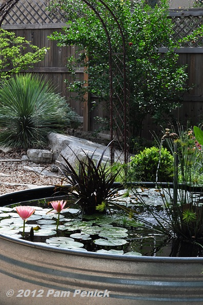 Plumbing Pipe Fountain Adds Life To Stock Tank Pond