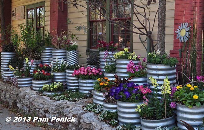 Drive By Gardens Colorful Culvert Pipe Planters In