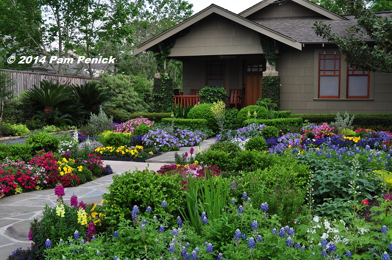 Drive By Gardens No Lawn Flower Garden At Houston Heights