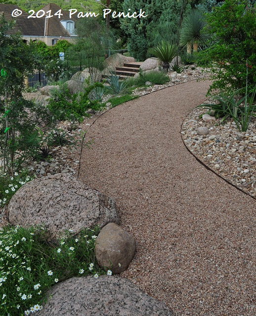Crushed Stone Pathways : Mid century house inspires palm springs style garden in