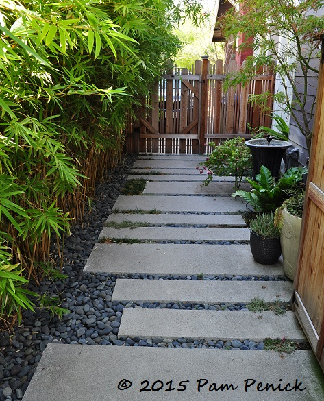 Cheap pavers and pea gravel patio large pavers pebbles for Landscaping rocks in jacksonville fl