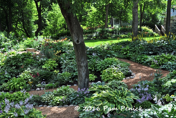 Owners Julie Carley And Gary Mosiman Were Standing At The Entrance To Their  Expansive Back Garden, Lush With Hostas And Ligularia In Shade, ...
