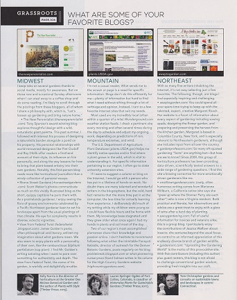 Digging blog mention in Country Gardens magazine DiggingDigging