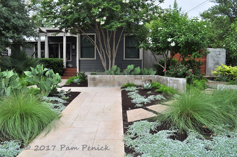 Modern easy care garden of austin designer b jane for Easy care front gardens