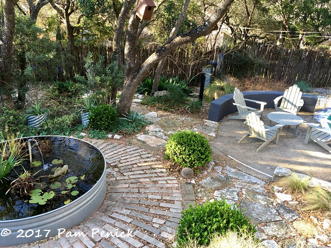 Garden clean up in progress for foliage follow up digging for Self cleaning pond