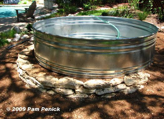 Filling up the stock-tank pond | DiggingDigging