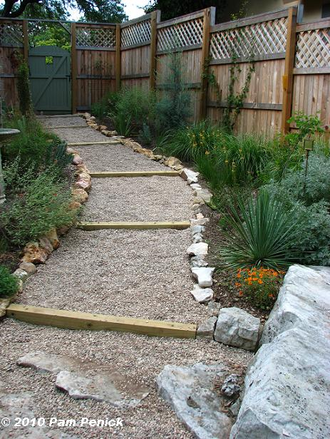 Hillside gravel and timber path-done! - Digging
