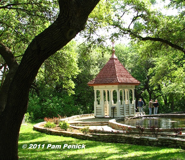 Over By The Rose Garden, A Red Roofed Structure (the Top Of An Old  Schoolhouse, I Seem To Recall) Makes A Picturesque Gazebo By The Koi Pond.