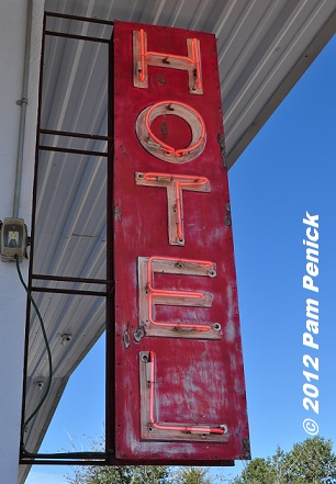 An Old Hotel Sign