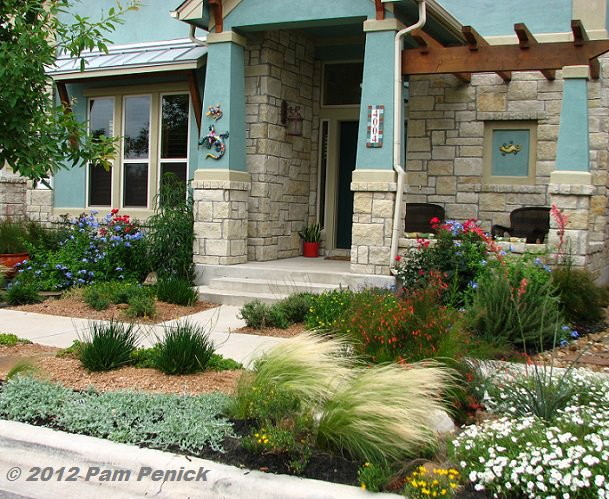 Drive By Gardens Colorful Front Garden Instead Of Lawn In
