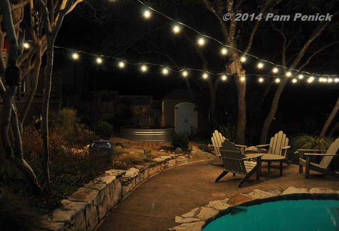 Awesome Party Lights Patio. January 20th, 2014. Evening Temperature: Mid 60sF. I  Need To Sit Out Here More Often, Before The Mosquitoes Return.