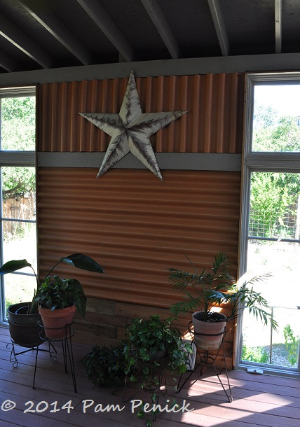 How To Install A Corrugated Metal Accent Wall: Visiting A San Antonio Garden With Rocks, Oaks, And Deer