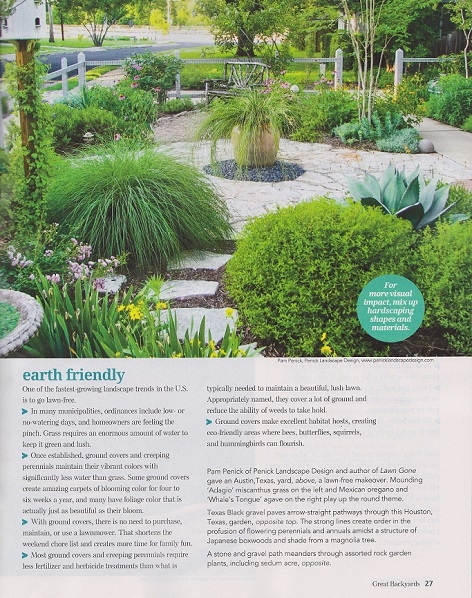 My former front garden appears on page 27. Aww, Green Hall, I miss you a  little right now. - My Former Garden Is In Great Backyards Magazine - Digging