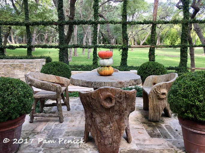 European Formality With Relaxed Texas Style In Ware Garden San