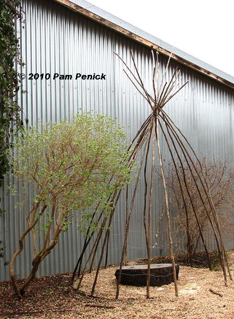 Garden structure at Wildflower Center - Digging